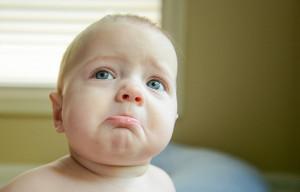 sad baby face